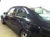 BLK Mercedes Before Window Tint